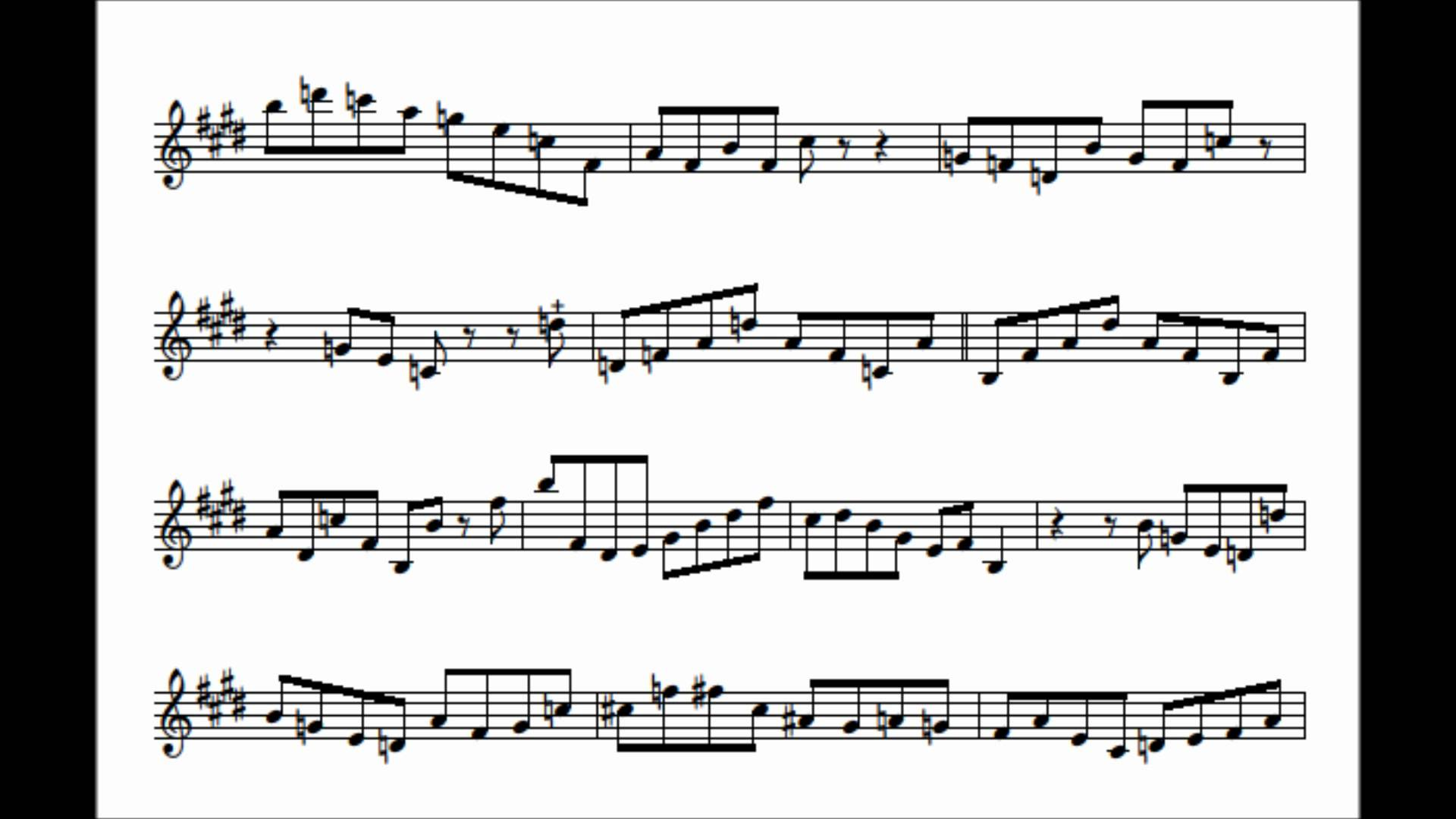 Chris Potter's Transcription – Tune-Up
